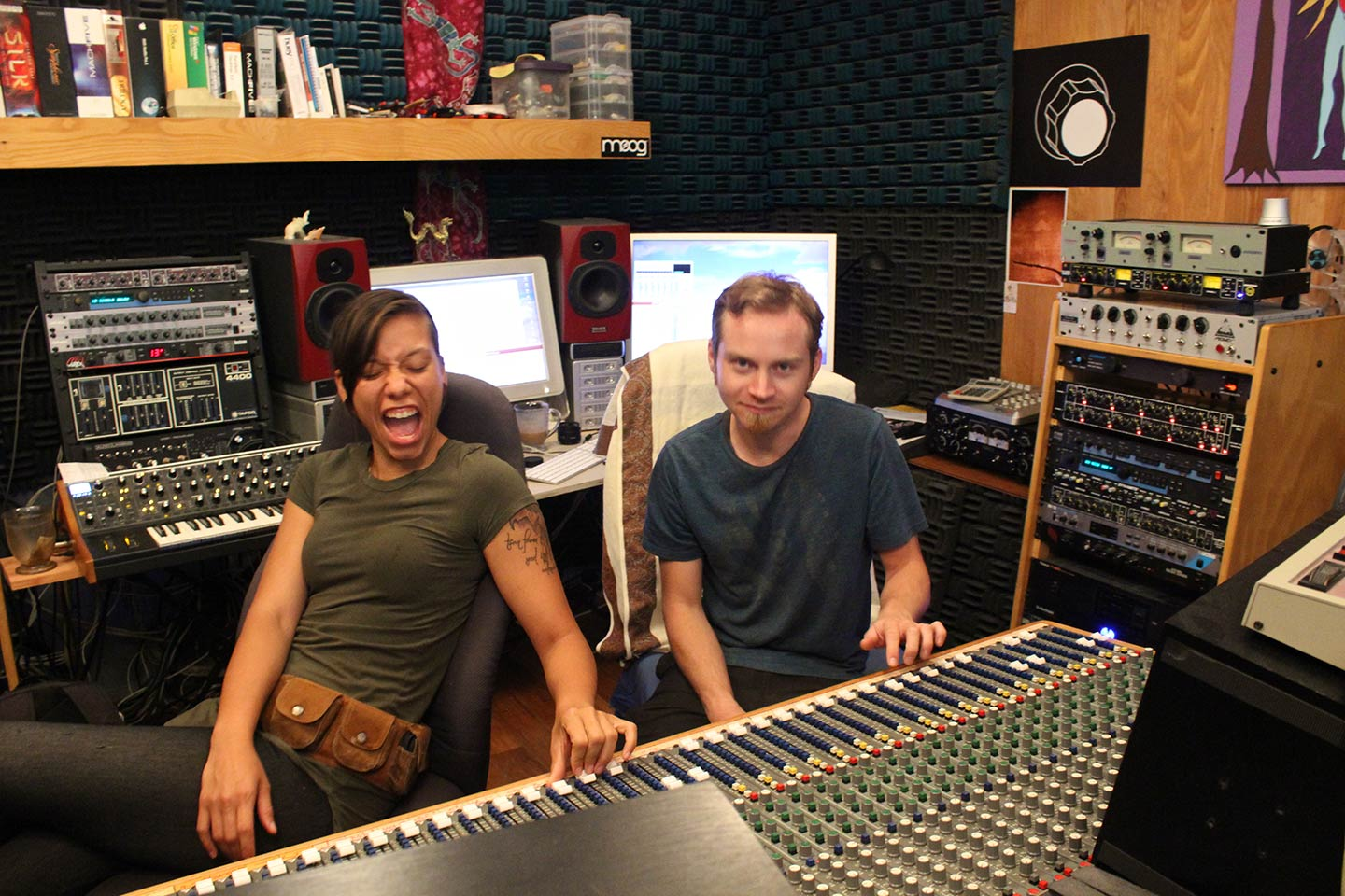 Alexis Holland and Dashmesh Singh Mixing at Invincible Recording Studio image