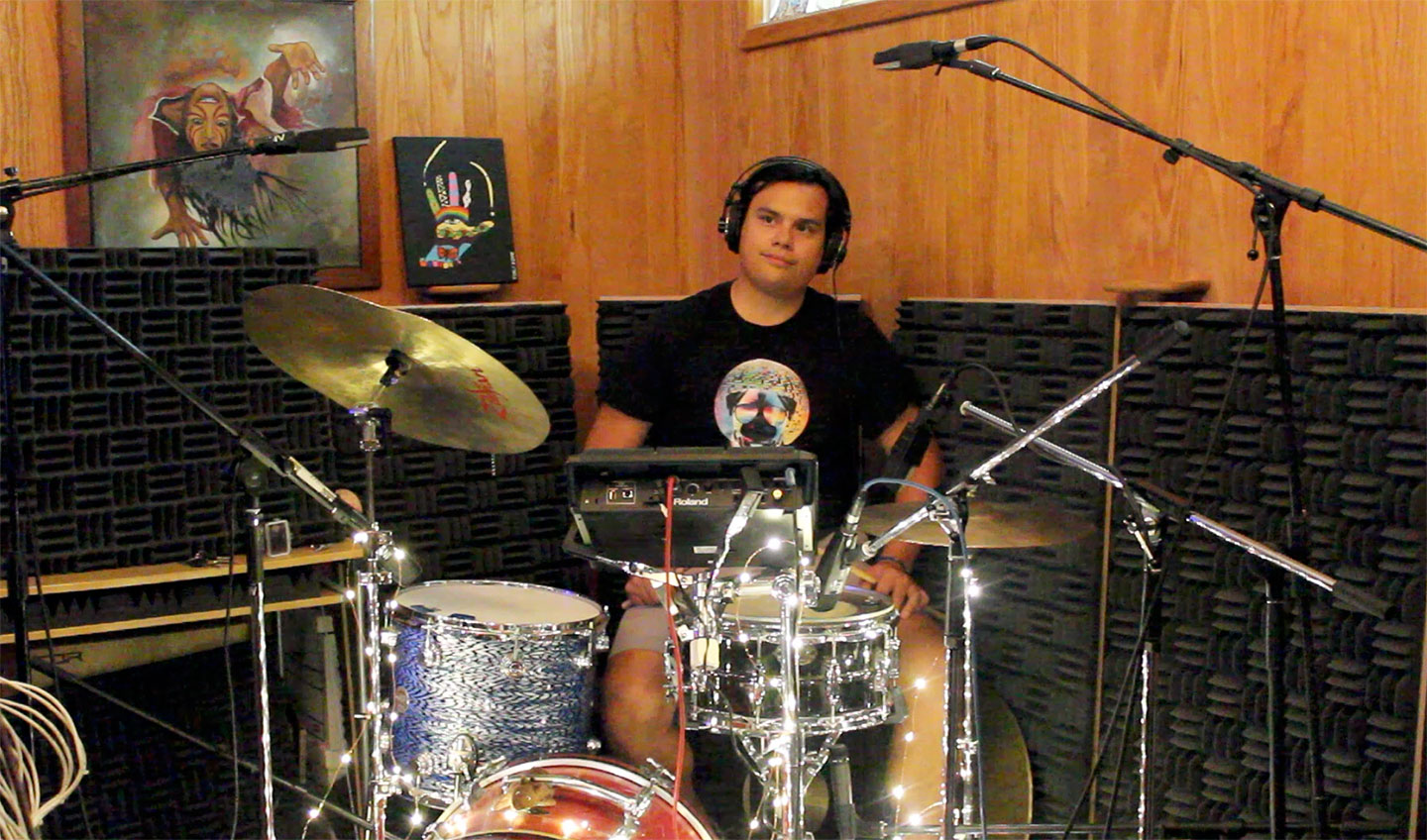 Stephen Avalos with House of Stairs recording at Phoenix Invincible Recording Studio image