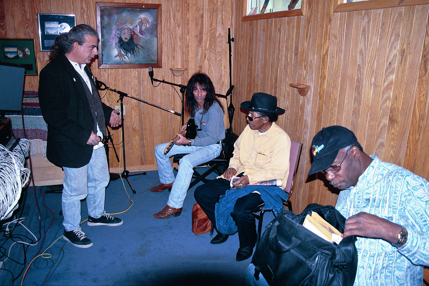 Invincible Recordings Studio-Phoenix Lester Chambers and Chico Chism recording those amazing blues. image