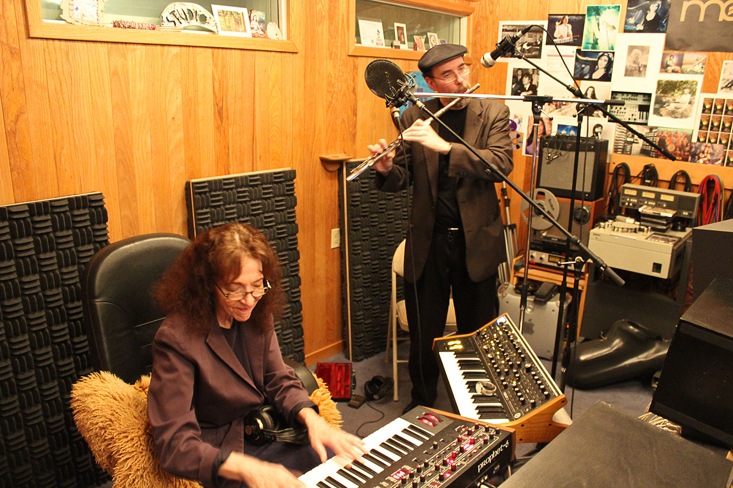 Invincible Recordings Studio Phoenix Greg Fishman and Judy Roberts Jamming image