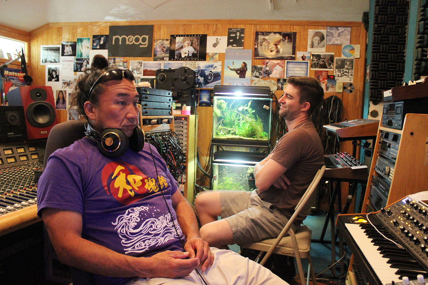 Ken Koshio and Stevie Hagel Mising at Invincible Recording Studio image
