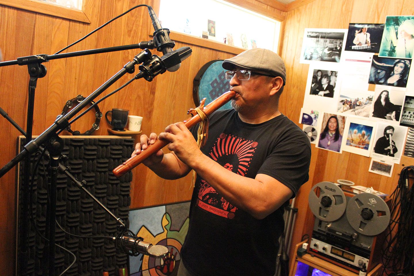Randy Kemp Recording Rez Radio Native American Music Album. image